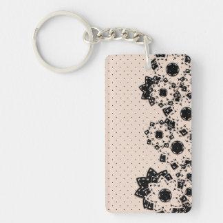 Key Chain Polka Dot and Flowers