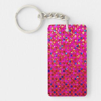 Key Chain Polka Dots Sparkley Jewels