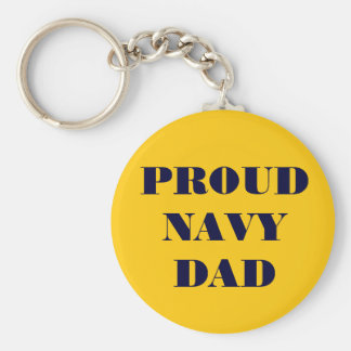 Key Chain Proud Navy Dad