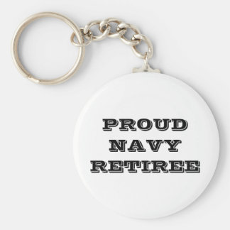 Key Chain Proud Navy Retiree