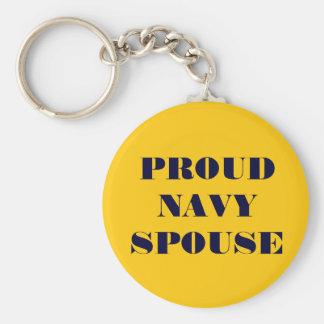 Key Chain Proud Navy Spouse