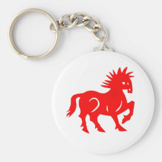Key Chain: Red Horse Chinese Zodiac Keychain
