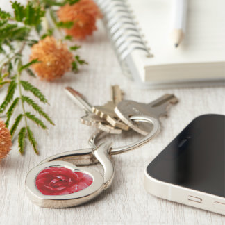 Key Chain - Red Red Rose