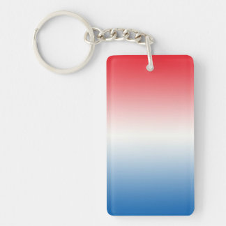 Key Chain: RED WHITE BLUE OMBRE Keychain