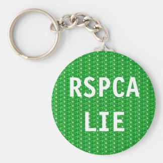 Key Chain RSPCA Lie Basic Round Button Keychain