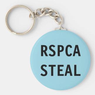 Key Chain RSPCA Steal Basic Round Button Keychain