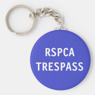 Key Chain RSPCA Trespass