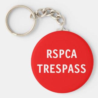 Key Chain RSPCA Trespass Basic Round Button Keychain
