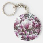 Key Chain - Saucer Magnolia
