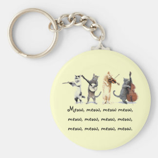 Key Chain  / Singing Cats / Meow, Meow , Meow