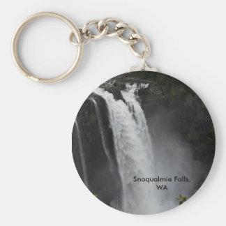 Key Chain:  Snoqualmie Falls Basic Round Button Keychain