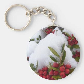 Key Chain - Snowy Holly & Berries 2