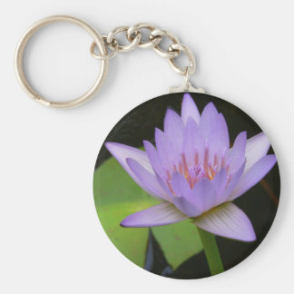 Key Chain  Soft Lavender Water Lily