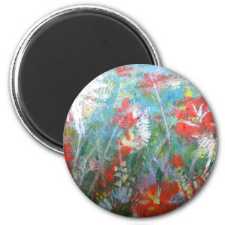 key chain. the rainbow of flowers magnet
