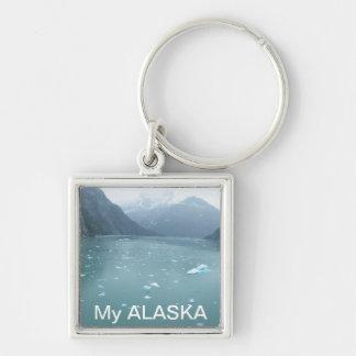 "Key Chain to display ALASKA.  Words ""My ALASKA"""