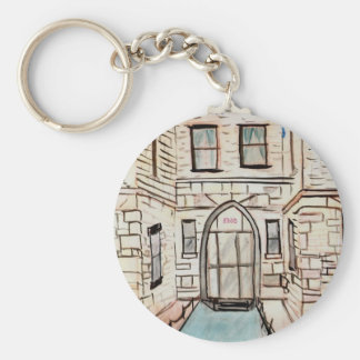 Key Chain with City Building Art