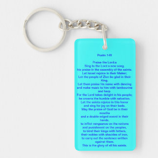 Key Chain with Famous Praise Dance Psalm