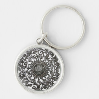 Key Chain with Intricate Tribal Design