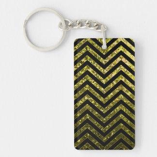 Key Chain Zig Zag Sparkley Texture