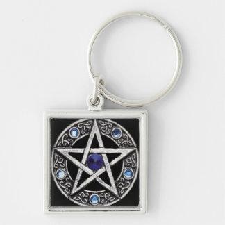 Key Chains: Jeweled Pentacle Keychain