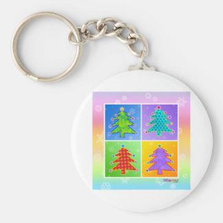 Key Chains - Pop Art Christmas Trees