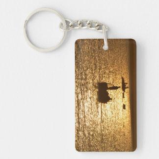 Key Chin ~ The Fisherman Double-Sided Rectangular Acrylic Keychain