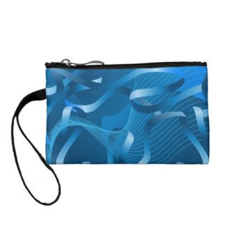 Key Coin Clutch - Abstract Blue