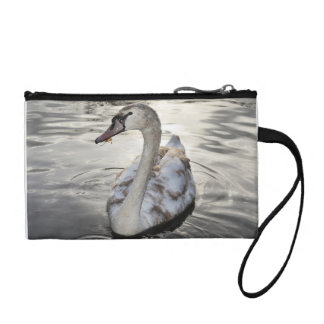 Key Coin Clutch featuring beautiful Swan