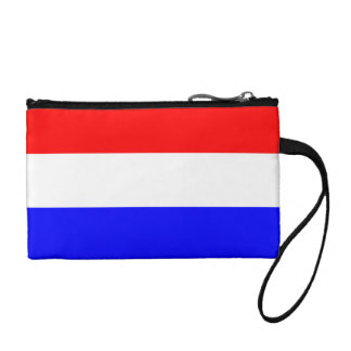 Key Coin Clutch in Red-White-Blue