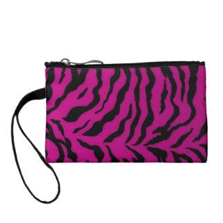 Key Coin Clutch Pink Zebra Design