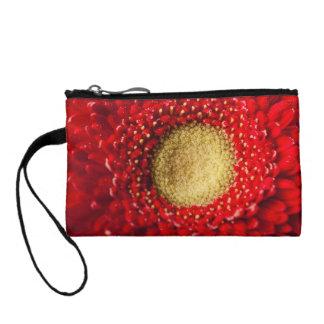 Key Coin Clutch  -  Red Gerbera