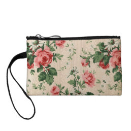 Key Coin Clutch Roses