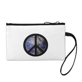 Key Coin Clutch with Groovy Peace Symbol