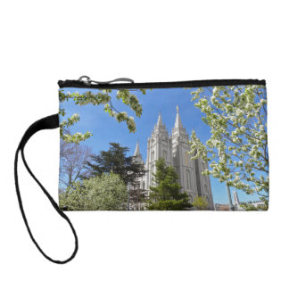 Key Coin Clutch with Salt Lake City Temple