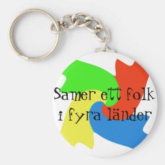 Key dial in samisk design basic round button keychain