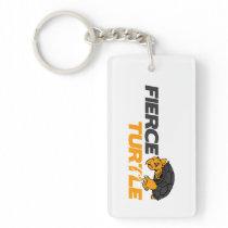 Key Fob Single-Sided Rectangular Acrylic Key Ring