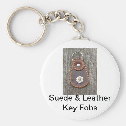 Key Fobs Basic Round Button Keychain