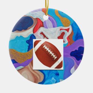 Key Football Ceramic Ornament