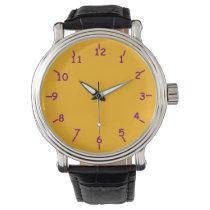 Key Gold and Purple Wrist Watches