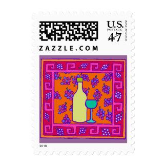 Key Grape Clusters Toast Postage Stamp
