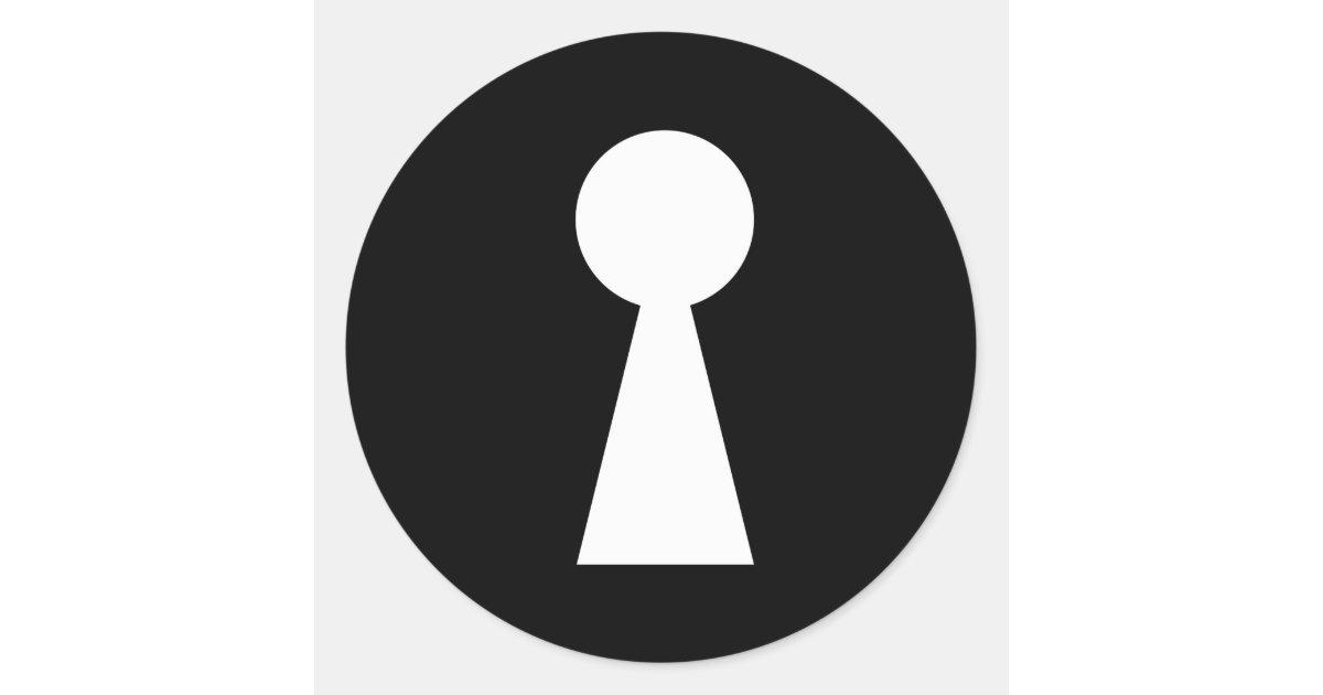 Key Hole Symbol Secret Indiscret Sign Classic Round Sticker Zazzle Com