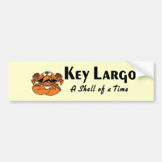 Key Largo crab Car Bumper Sticker