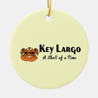 Key Largo crab Double-Sided Ceramic Round Christmas Ornament