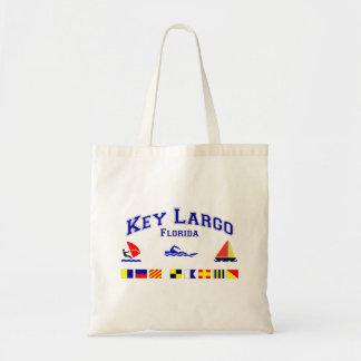 Key Largo FL Signal Flags Canvas Bags
