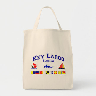 Key Largo FL Signal Flags Grocery Tote Bag