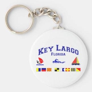 Key Largo FL Signal Flags Key Chains