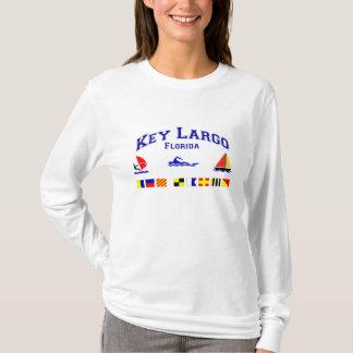 Key Largo FL Signal Flags T-Shirt