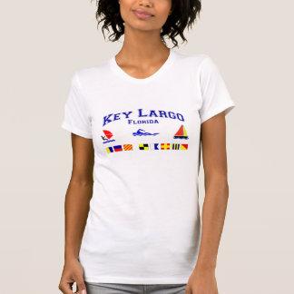 Key Largo FL Signal Flags T Shirt