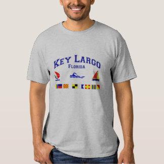 Key Largo FL Signal Flags Tshirt