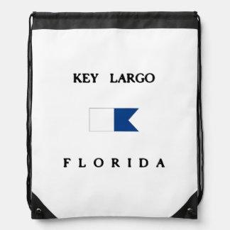 Key Largo Florida Alpha Dive Flag Cinch Bags